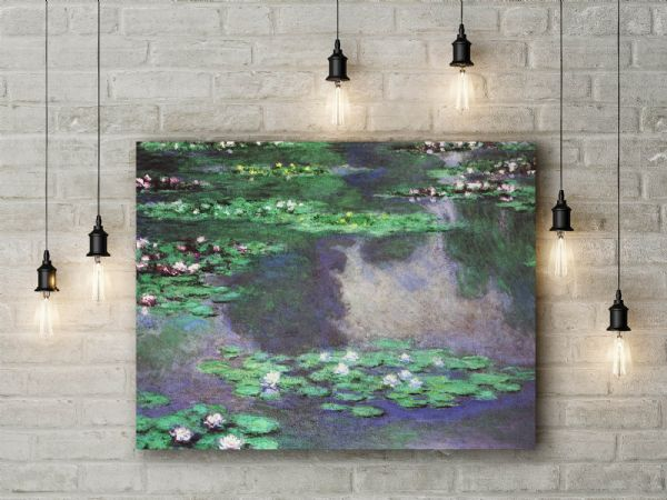 Monet: Sea Roses, Water Landscape. Fine Art Canvas.